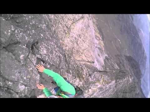 Climbing the Inn Pin On the Cuillin Ridge, Skye