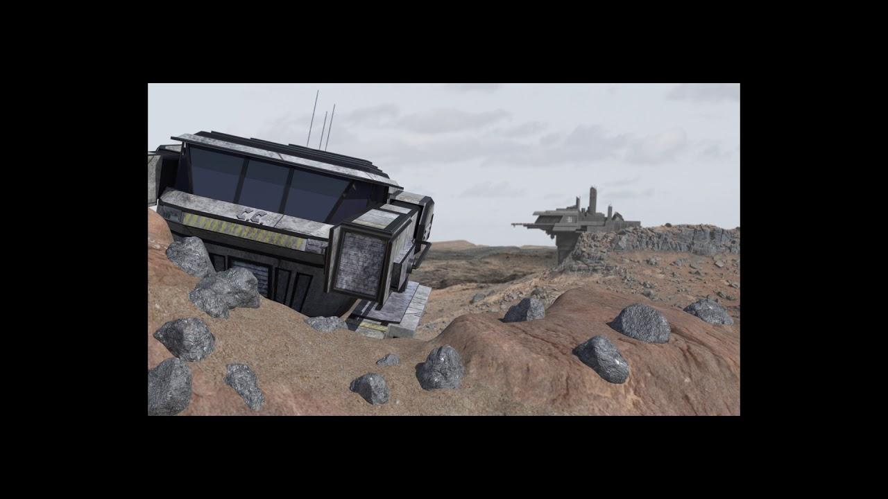 Download Cinque Cashell Sci Fi 3D animation scene.