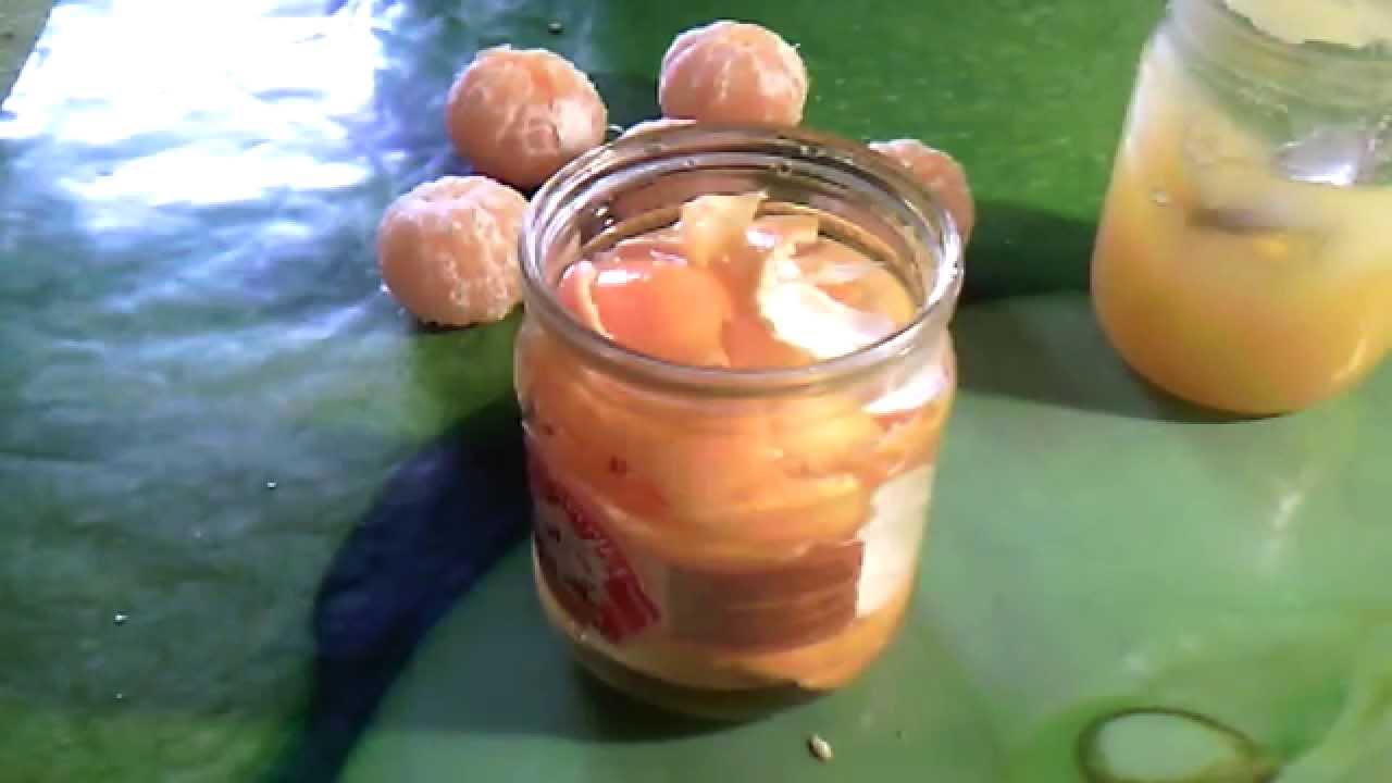 рецепт браги из мандаринов