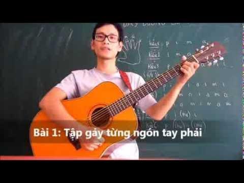 [Gpt guitar school] Bài 1 Tập cho tay phải