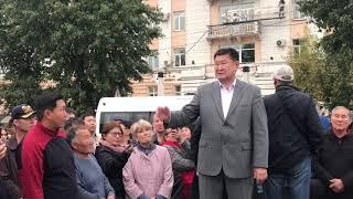 Стихийный митинг в Улан-Удэ
