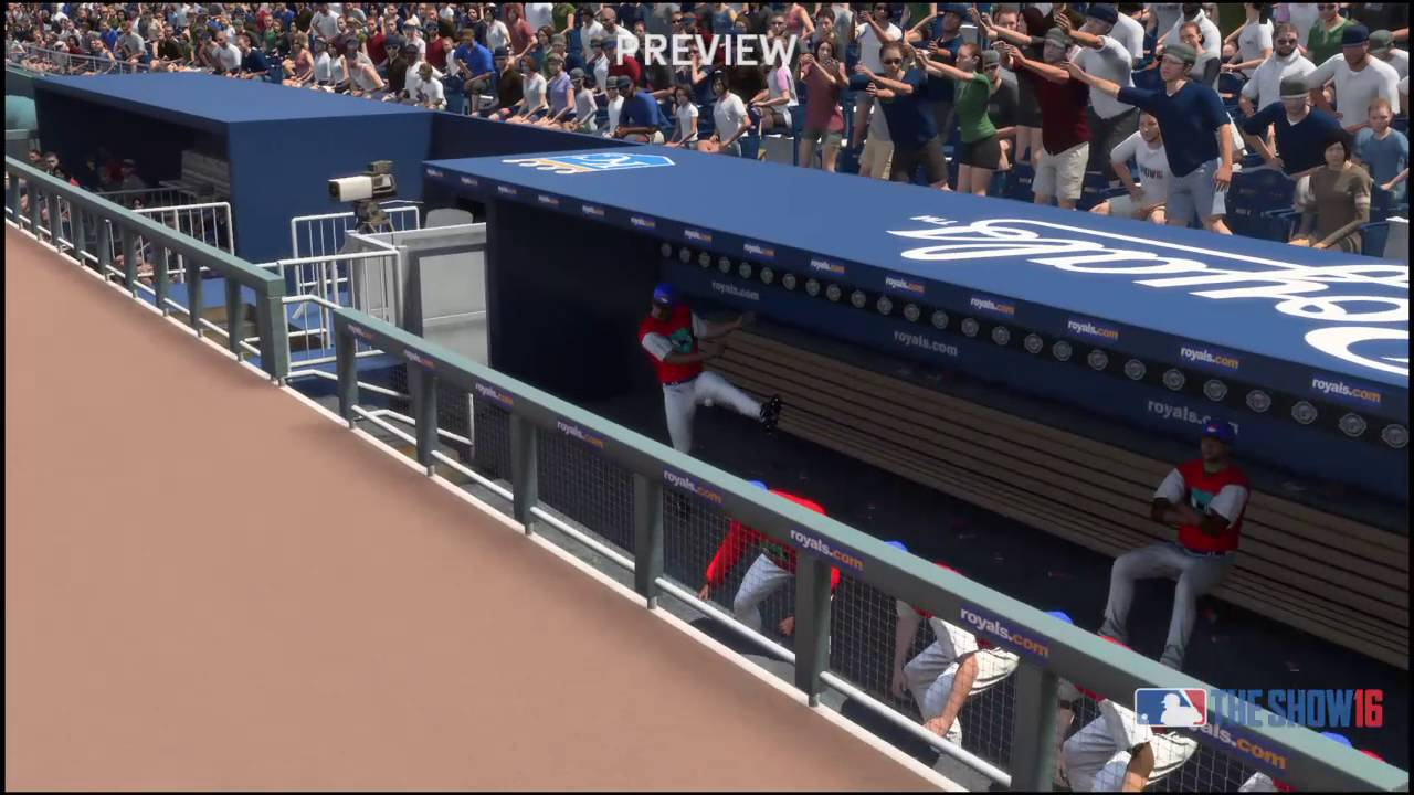 Baseball Dugout Bedroom Designs: MLB® The Show™ 16 Dugout Damage