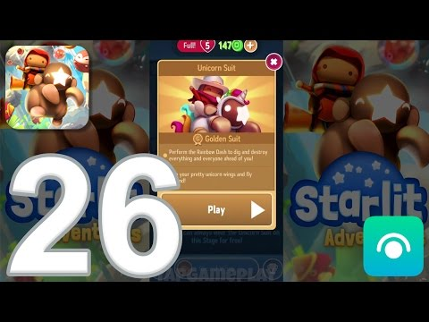 Starlit Adventures  Gameplay Walkthrough Part 26  Unicorn Suit Challenge 1 iOS, Android