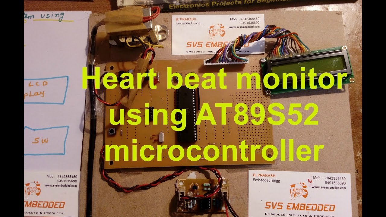 Heart Rate Monitor Using 8051 Electronic Circuits And Diagram