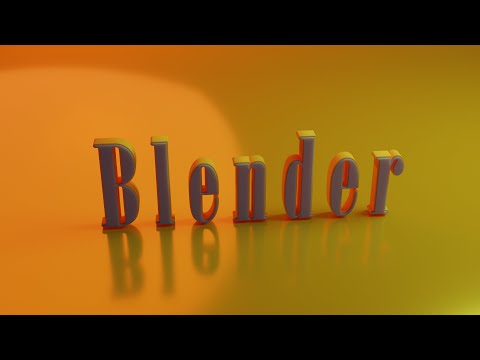 Эксперементируем с текстом в Blender 2.92/lesson on blender creating a beautiful text