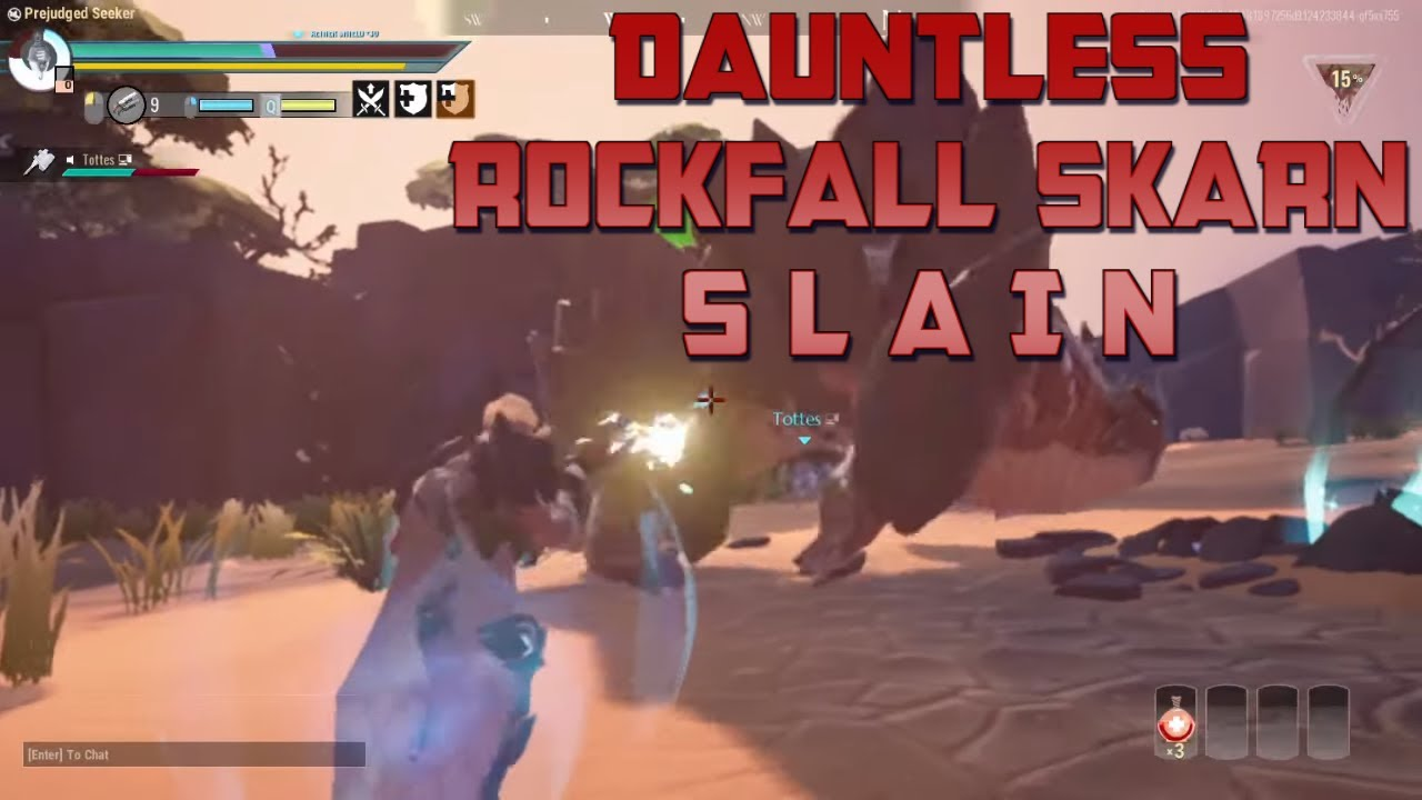 Dauntless - Rockfall Skarn Slain! Threat Level 8 Rockfall Skarn Hunt!