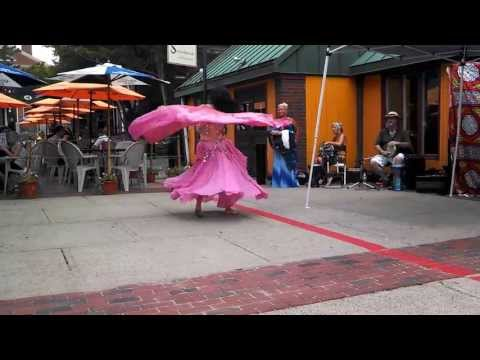 Xylinia Dancing at Artists' Row in Salem, MA