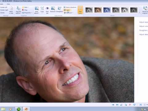 Editing In Windows Live Photo Gallery 2011