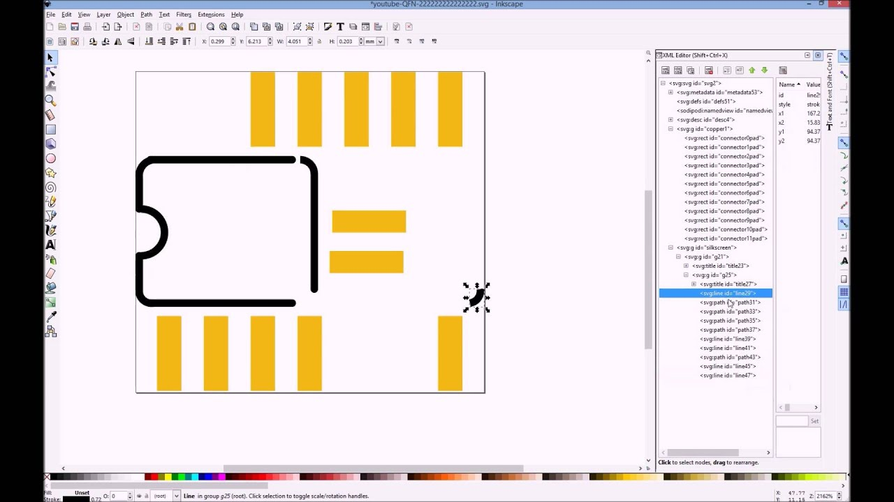 Making custom smd fritzing parts in inkscape youtube making custom smd fritzing parts in inkscape ccuart Image collections
