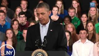 President Barack Obama Visits SUNY Campuses in Buffalo and Binghamton to Address the Cost of College