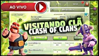 Visitando clans ao vivo (clash of clans)