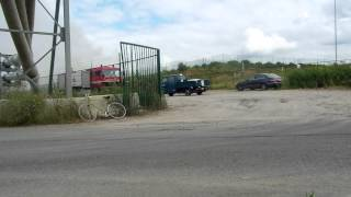 PRIMEUR tankwagen brandweer zandhoven bij zeer grote brand antwerpen