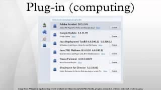 Plug-in (computing)
