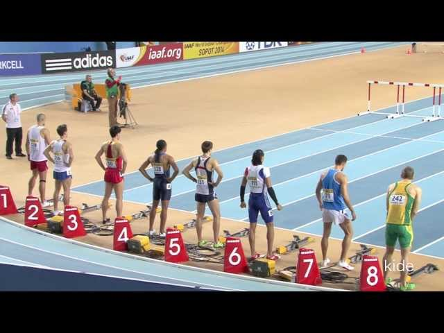 Aries Merritt won 60mH final in Istanbul 2012