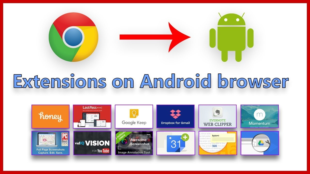 How to add chrome extension on android browser