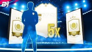 INSANE BASE ICONS PACKED! 5x BASE ICON SBC PACKS! | FIFA 19 ULTIMATE TEAM