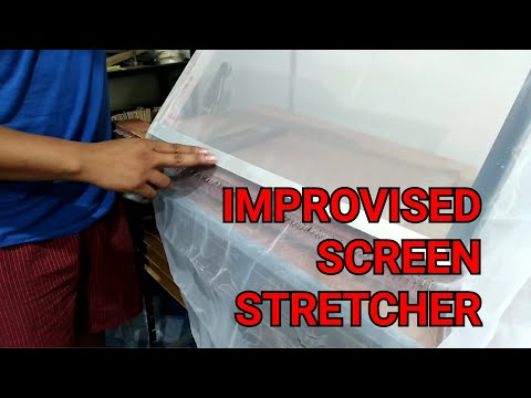 SILKSCREEN PRINTING How To Make Aluminum Frame And Attaching Screen