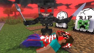 Monster School : EVIL WITHER became VILLAIN - RIP HEROBRINE - Minecraft Animation