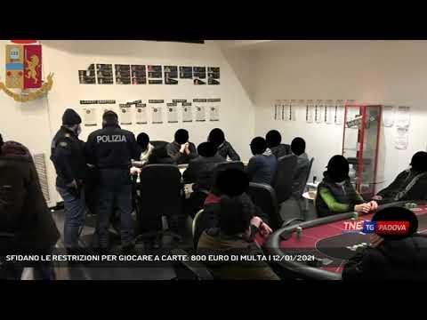 SFIDANO LE RESTRIZIONI PER GIOCARE A CARTE: 800 EURO DI MULTA | 12/01/2021