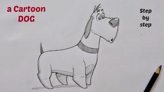 Schritt für Schritt, wie zeichnen Sie ein cartoon-Hund für Kinder und Anfänger | - Zeichnung tutorial