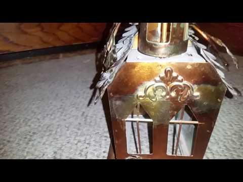 Copper church music box