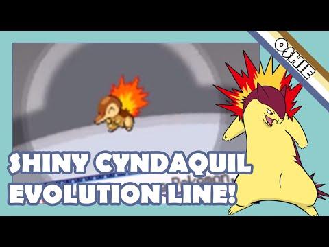 Shiny Cyndaquil, Quilava & Typhlosion In Pokémon SoulSilver (+Evolution!)