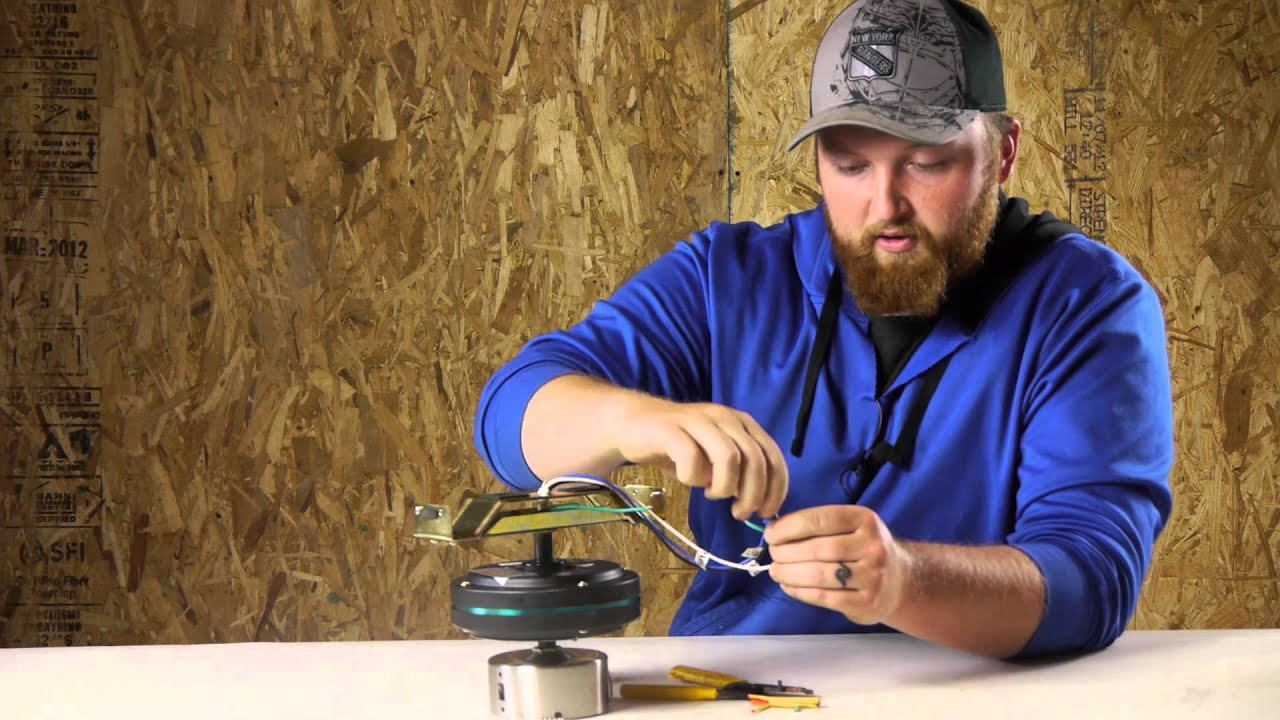 Ceiling Fans With Electrical Cords : How to wire a ceiling fan plug into wall