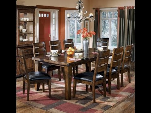 Signature Design By Ashley D442 45 Larchmont Collection Dining Room Table Burnished Dark Brown