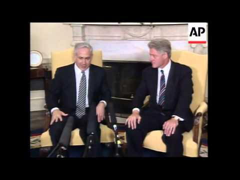 USA: ISRAELI PRIME MINISTER NETANYAHU MEETS PRESIDENT CLINTON