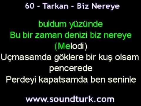 Tarkan - Biz Nereye karaoke