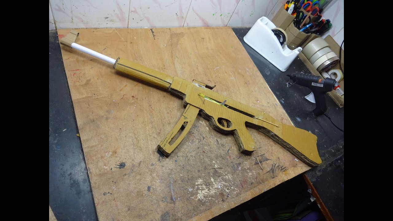 Cardboard Hydraulic Ar : How to make a stg that shoots with magazine