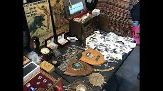 Surprise unbox 15, storage auction reveal 5*5 $310 Indian rug + jewelry + military plaques