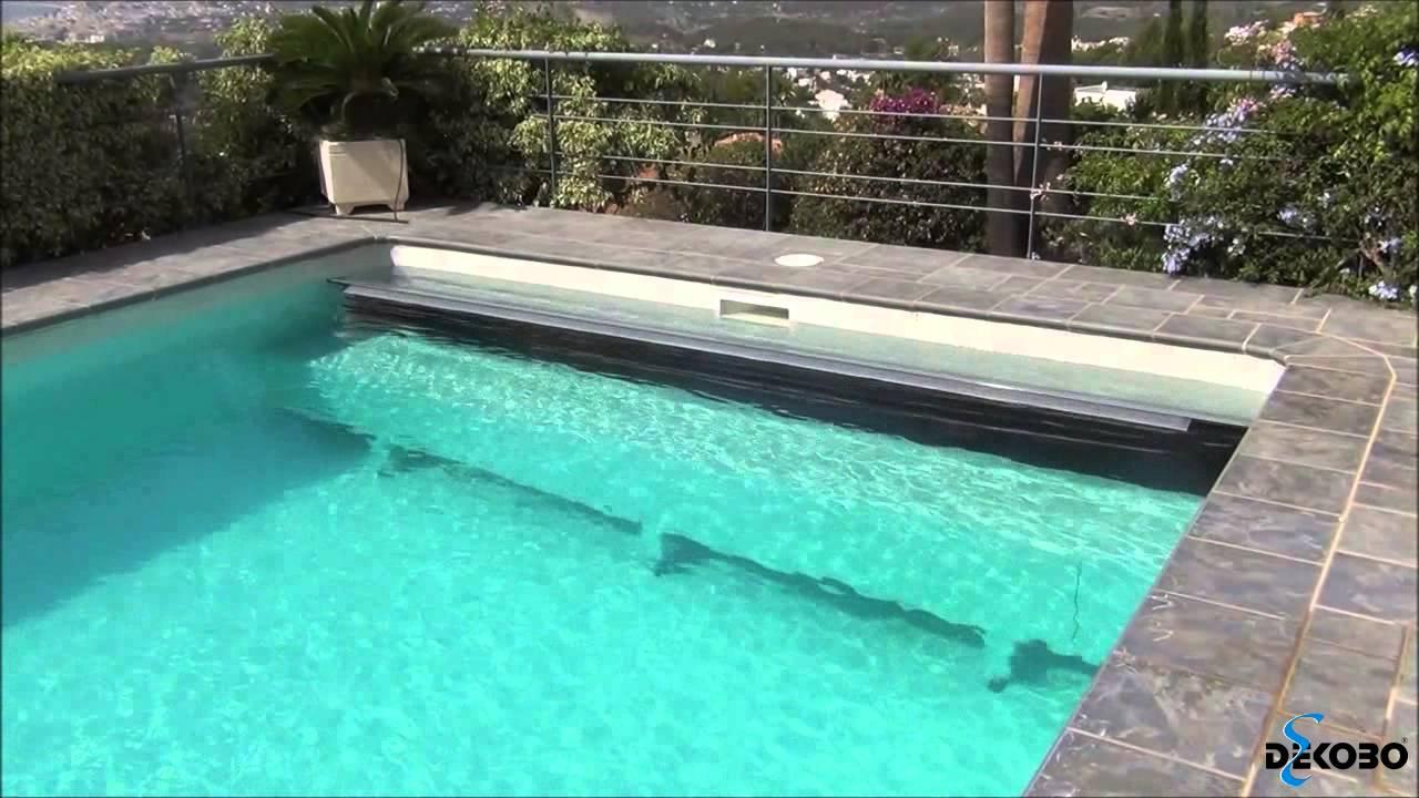 Dekobo modelo amsterdam con cajon cubierta persiana for Piscina con cubierta