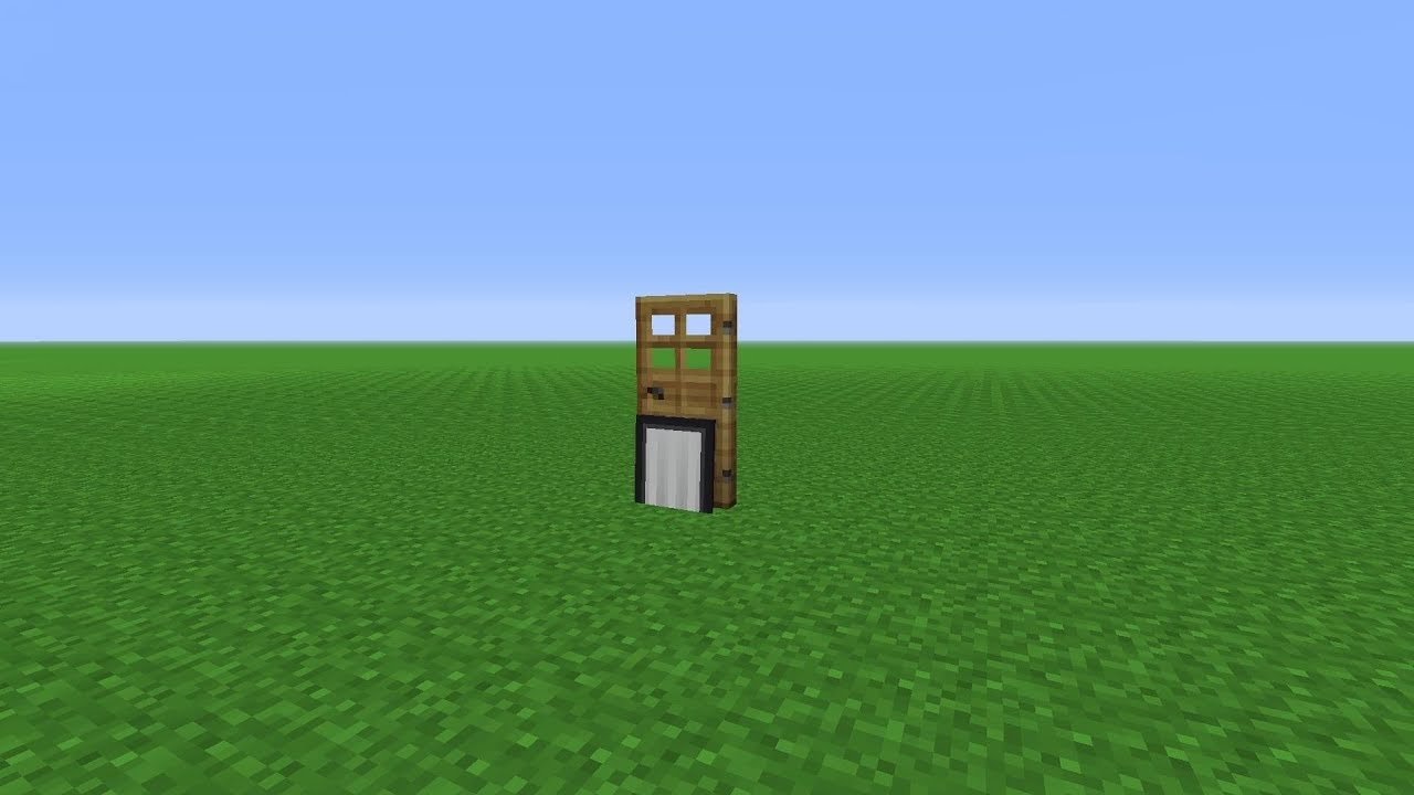 Minecraft How To Make A Dog Door Youtube