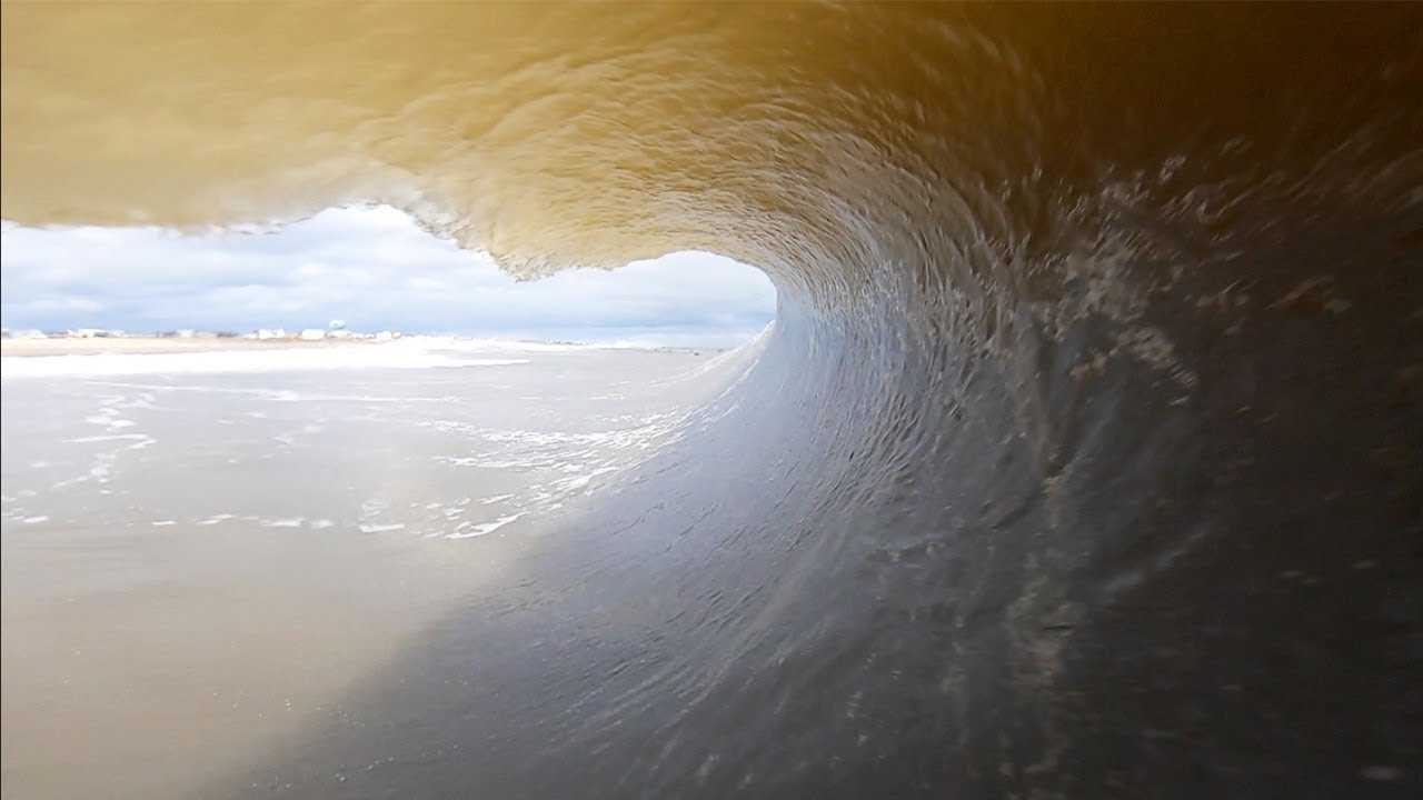 Surfing Frozen Barrels in NJ During Winter Storm Harper!