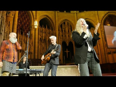 Patti Smith & Michael Stipe Perform at Democracy Now!'s 20th Anniversary