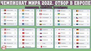 Чемпионат мира по футболу 2022 Отбор в Европе Расписание