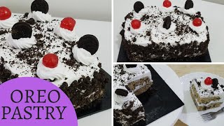 OREO COOKIES CAKE PASTRY/WITHOUT OVEN AND EGGLESS OREO PASTRY ICECRRAM CAKE IN URDU/HINDI BY KWF