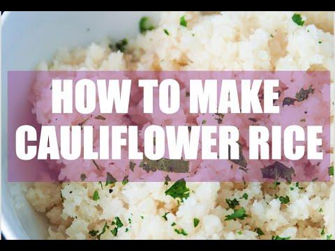 how to make cauliflower rice youtube