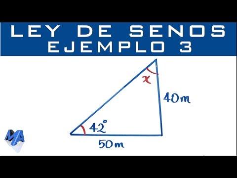Ley De Senos | Ejemplo 3 Encontrar Un ángulo