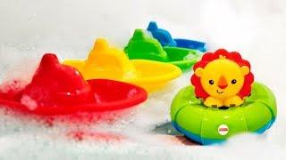 Farben lernen für Kleinkinder. Spielzeugvideo auf Deutsch.
