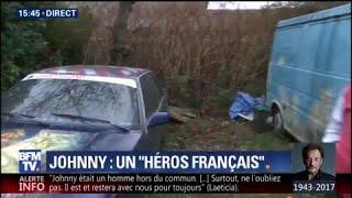 Ce fan a recouvert sa voiture de portraits de Johnny Hallyday
