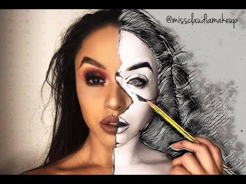 Half sketch - Rainbow Eye Makeup Tutorial thumbnail