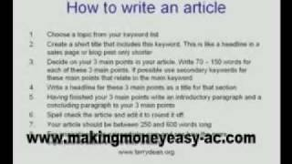 Make Money Easy: $2000+ with Associated Content Articles