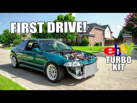 $600 eBay TURBO CIVIC FIRST DRIVE!!