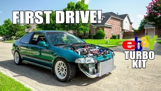 $600 eBay TURBO CIVIC FIRST DRIVE!!
