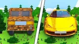 Битва построек — Золотая машина — Нуб против нуба в Майнкрафт