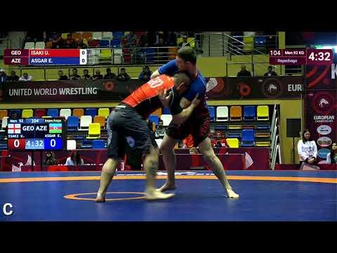 Repechage Men - 92 kg: U. ISAKI (GEO) v. E. ASGAR (AZE)