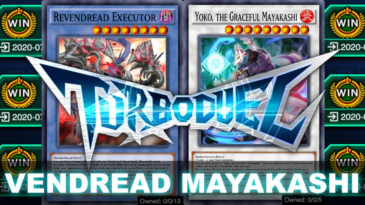 BEST DECK FOR TURBO DUELS! Vendred Mayakashi ft. Shiranui 4+ Synchro a turn! (Yu-Gi-Oh! Duel Links)