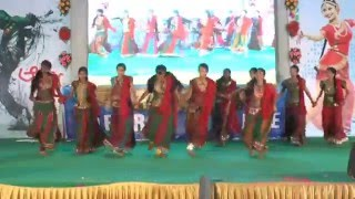 AADYA-2015 - Puttameeda DJ Mix - Telugu Popular Folk Song -Apoorva Degree College-